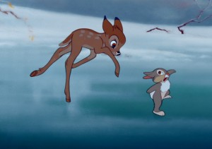 Bambi vs bambi a life in the woods disneyfied or - Bambi on ice images ...