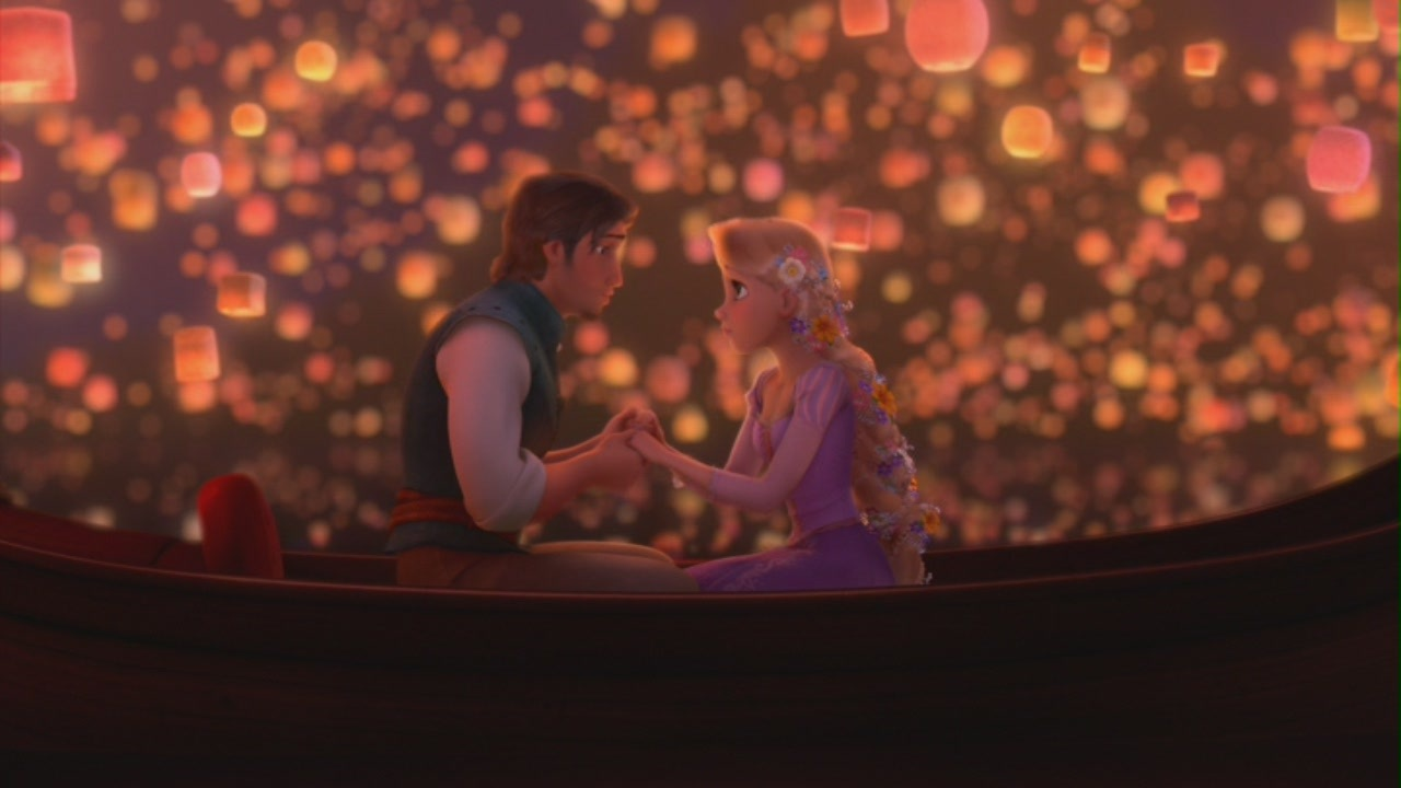 Tangled vs. Rapunzel – Disneyfied, or Disney tried? for tangled rapunzel and flynn in the boat  70ref