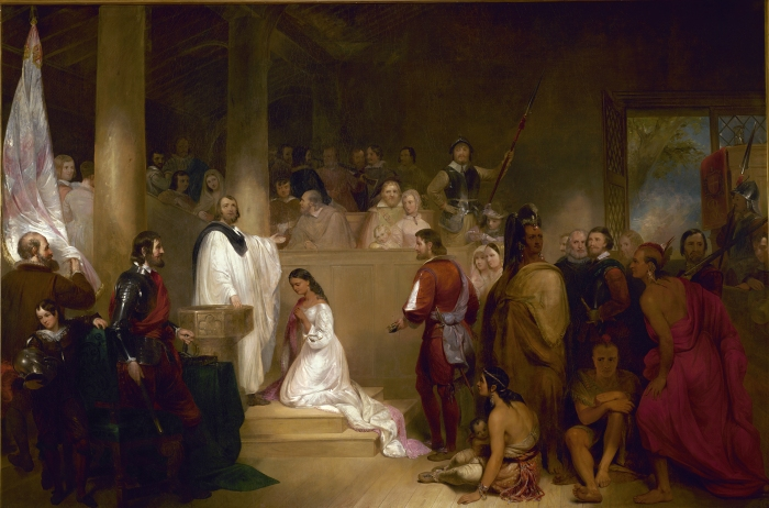 Baptism of Pocahontas, by John Gadsby Chapman
