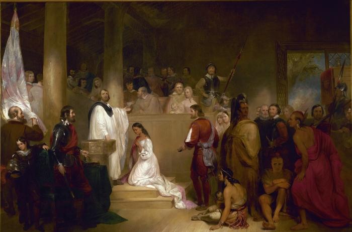 Baptism of Pocahontas, by John Gadsby Chapman