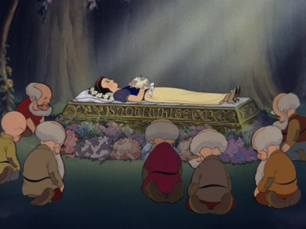 Image result for snow white being carried by the dwarfs